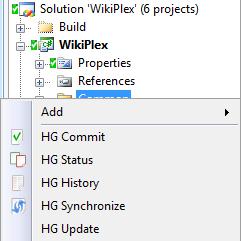 VisualHG: A Mercurial Plugin for Visual Studio